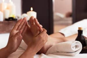 Erholsame Fußmassage