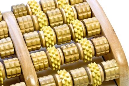 Fußmassagegeroller aus Holz