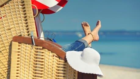 Entspannter Urlaubstag - mit der Reisemunddusche auch für die Zähne